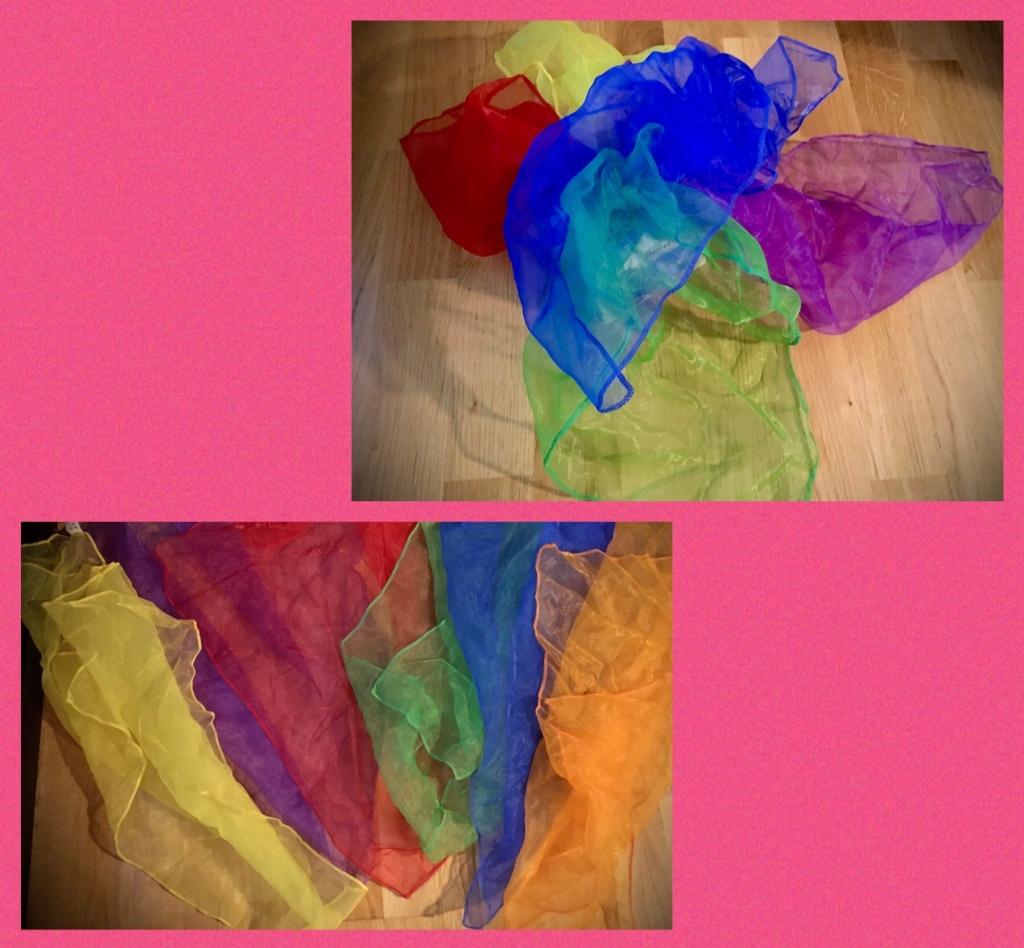 Pañuelos de colores.